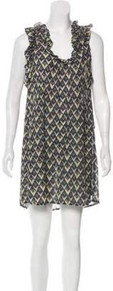 Etoile Isabel Marant V-Neck Ruffle Print Dress