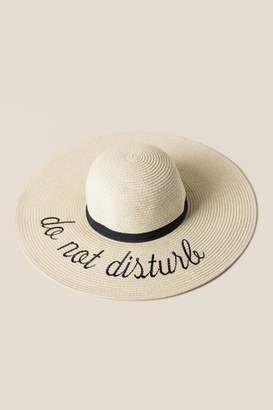 francesca's Do Not Disturb Floppy Hat - Natural
