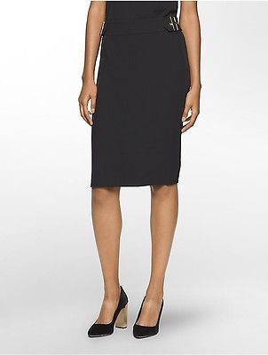 Calvin KleinCalvin Klein Womens Buckle Midi Skirt