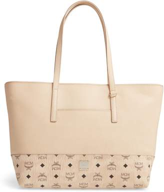 MCM Wilder Visetos Leather Shopper
