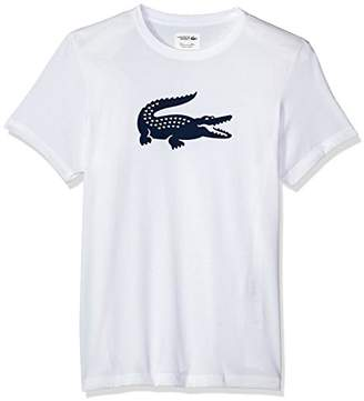 Lacoste Men's Short Sleeve Jersey Tech with Gator Graphic Logo T-Shirt