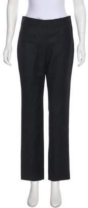 Chanel Wool Mid-Rise Pants Grey Wool Mid-Rise Pants