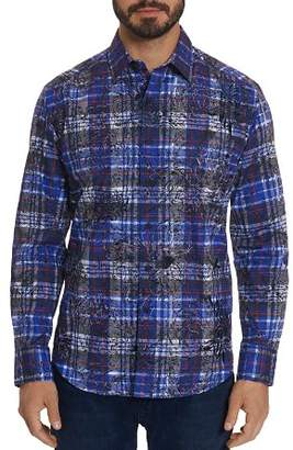 Robert Graham Akada Floral-Plaid Classic Fit Button-Down Shirt