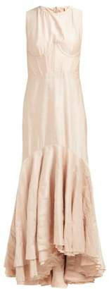 Brock Collection Othmana Corset Bodice Taffeta Fishtail Gown - Womens - Pink