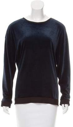 Les Chiffoniers Velvet Long Sleeve Top