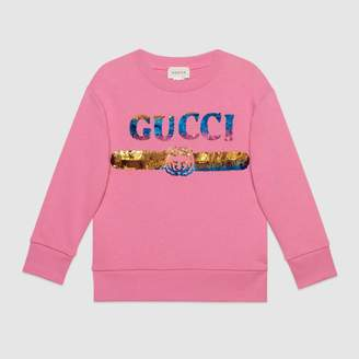 Gucci Children's sweatshirt with sequin logo