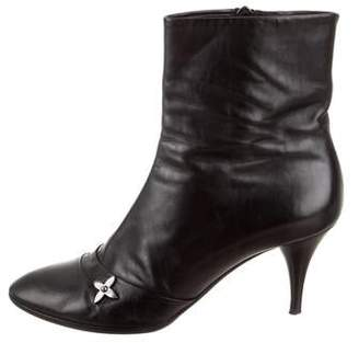 Louis Vuitton Leather Round-Toe Ankle Boots