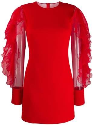 David Koma long-sleeve mini dress