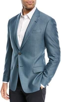 Emporio Armani Textured Ocean Blue Blazer