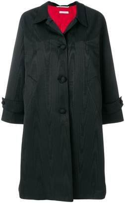 Thom Browne Moire Tracee Bow Back Overcoat