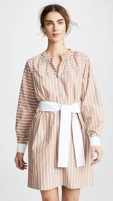 Derek Lam 10 Crosby Crew Neck Belted Dress