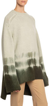 Boon The Shop Tie-Dye High-Low Chunky Cashmere Sweater