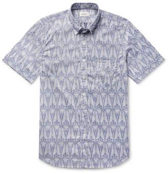 Hartford Slim-Fit Button-Down Collar Printed Cotton Shirt