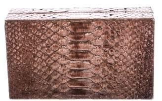 Nancy Gonzalez Python Box Clutch
