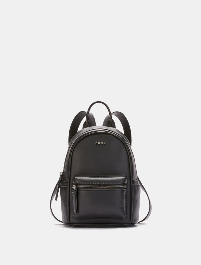 DKNY Heavy Nappa Leather Mini Backpack