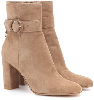 Gianvito Rossi Leyton 85 suede ankle boots