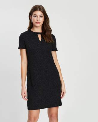 Dorothy Perkins Black Friday Silver Cut Out Shimmer Shift Dress