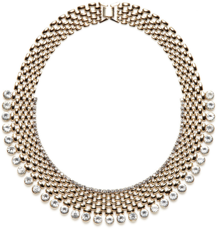 Kenneth Jay Lane Gold & Crystal Necklace