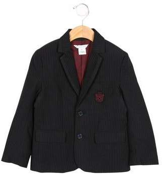 Little Marc Jacobs Boys' Patch-Embellished Pinstriped Blazer w/ Tags
