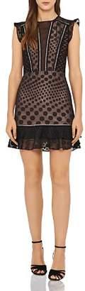 Reiss Alexa Embroidered Mini Dress