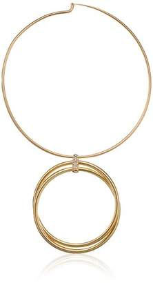 Kenneth Cole New York Kenneth Cole New Women's Trinity Rings Gold Double Circle Necklace