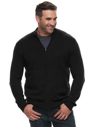 Croft & Barrow Big & Tall Classic-Fit 7GG Super Soft Full-Zip Sweater