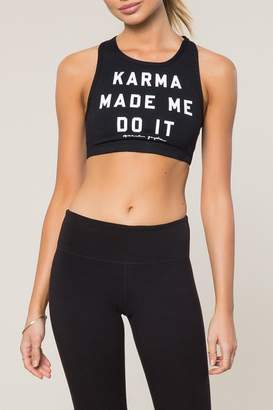 Spiritual Gangster High Neck Karma Bra