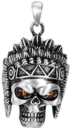 Summit Indian Skull Pendant Collectible Medallion Necklace Accessory Jewelry