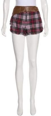 Derek Lam Plaid Mini Shorts