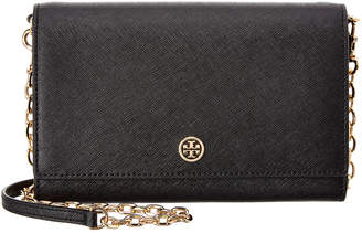 Tory Burch Robinson Leather Chain Wallet Crossbody