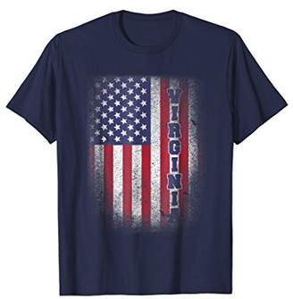 Virginia T-shirt American Flag Usa Patriot United States