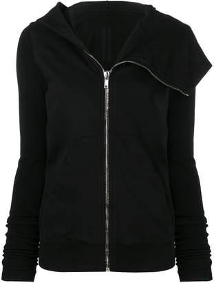 Rick Owens asymmetric hooded jacket