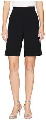 Neil Barrett Light Stretch Crepe Slouch Short Trousers Women's Casual Pants