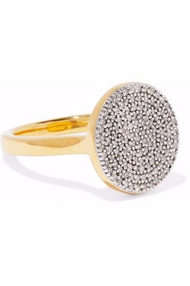 Monica Vinader Ava 18-Karat Gold-Plated Sterling Silver Diamond Ring