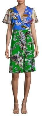 Diane von Furstenberg Flutter Sleeve Dress