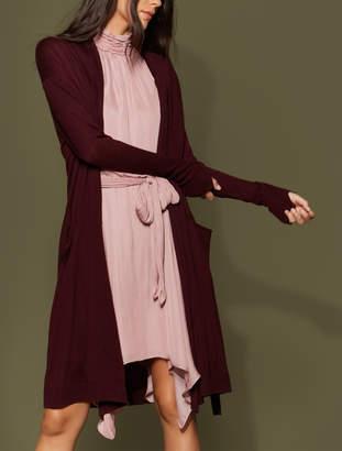 Halston Long Sleeve Waist Sash Cardigan