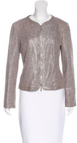 Armani CollezioniArmani Collezioni Marbled Leather Jacket
