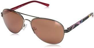 Vera Bradley Women's Ambrose Aviator Sunglasses