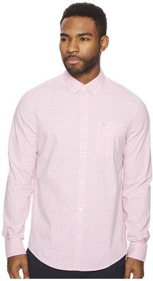 Original Penguin Long Sleeve Stretch Gingham Shirt Men's Long Sleeve Button Up
