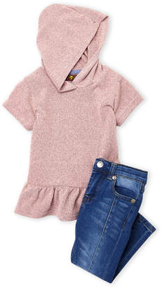 7 For All Mankind Toddler Girls) Two-Piece Top & Jeans Set
