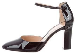 Gianvito Rossi Patent Leather Round-Toe Pumps