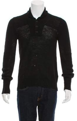Maison Margiela Woven Button-Up Sweater