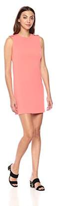 Calvin Klein Women's Solid Sleeveless Sheath with Buttons Dress