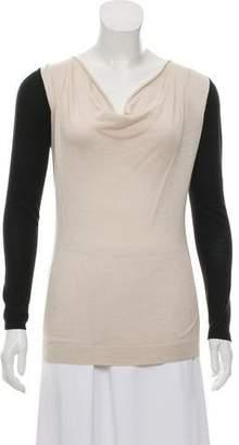 Magaschoni Silk & Cashmere Blend Knit Top