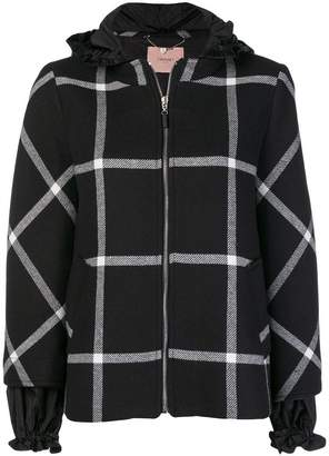 Twin-Set checked hooded jacket