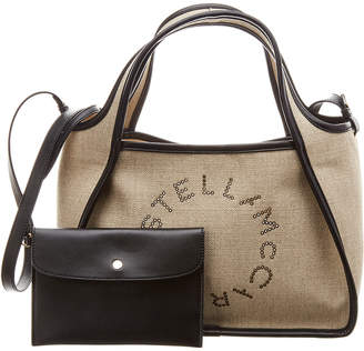 Stella McCartney Perforated Logo Canvas Tote