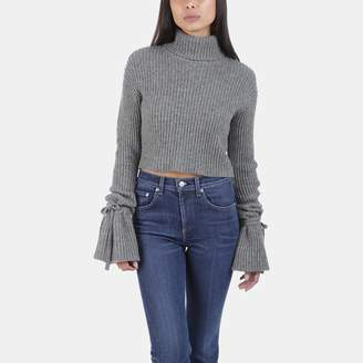 A.L.C. Emilie Cropped Merino Wool Sweater