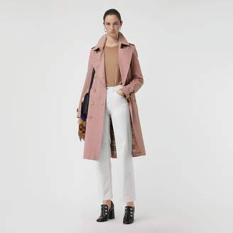 Burberry Tropical Gabardine Trench Coat , Size: 08, Pink