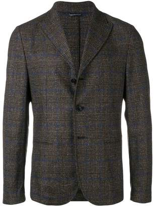 Daniele Alessandrini checked tailored blazer