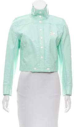 Courreges Coated Collarless Jacket